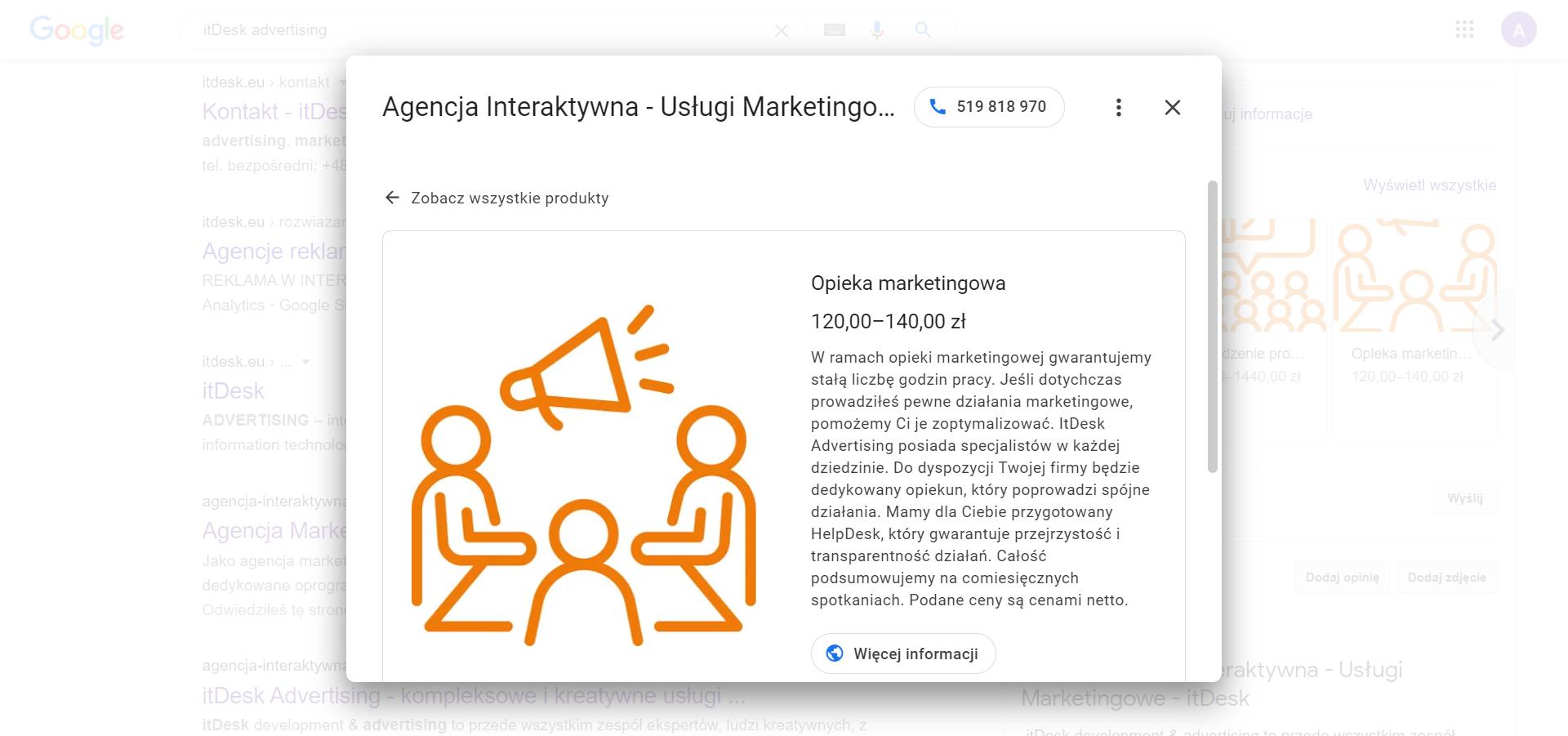 Usługa opieki marketingowej